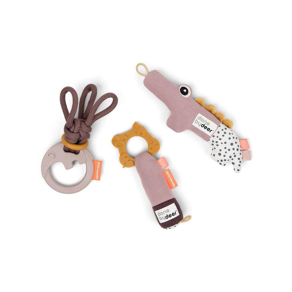Done by Deer Tiny toys Geschenkset Deer friends Rosa