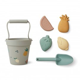 Liewood Silikon Sandspielzeug-Set Dante Fruit/dove blue multi mix