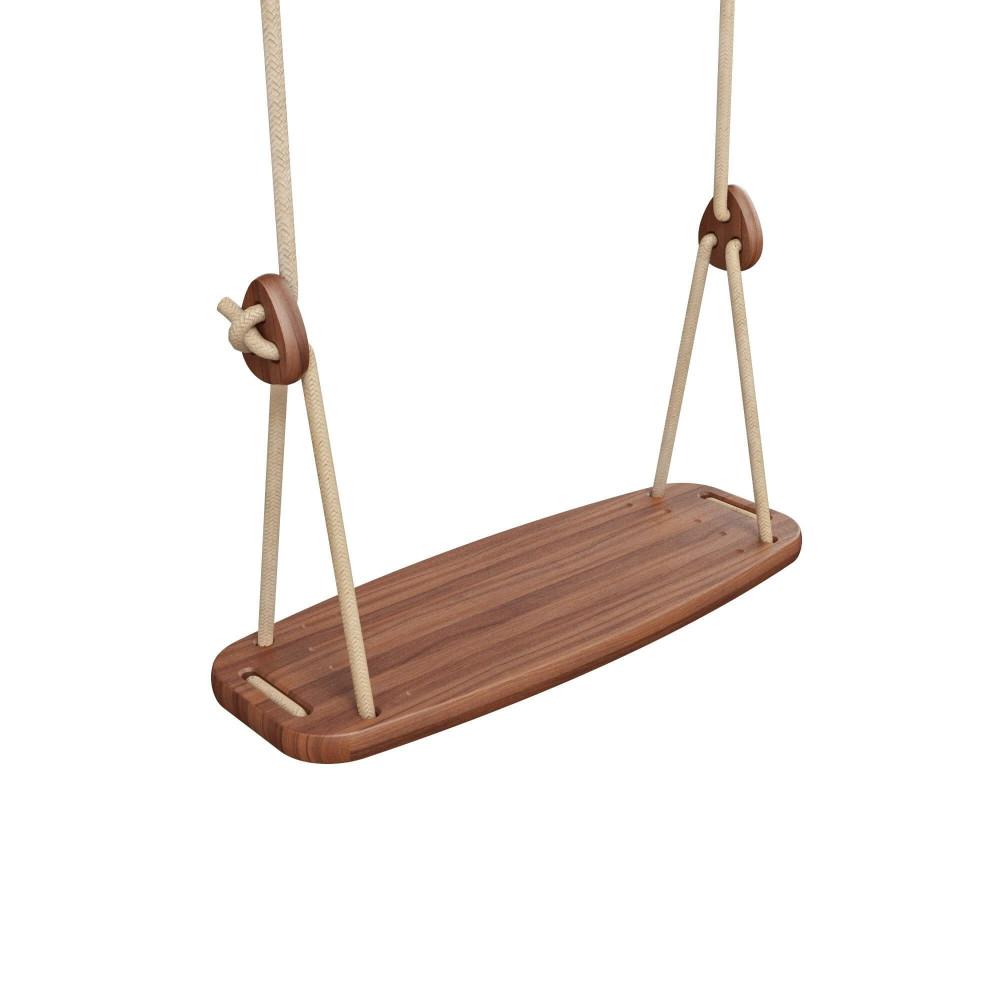 Lillagunga Kinderschaukel Outdoor Walnuss - Seile Beige
