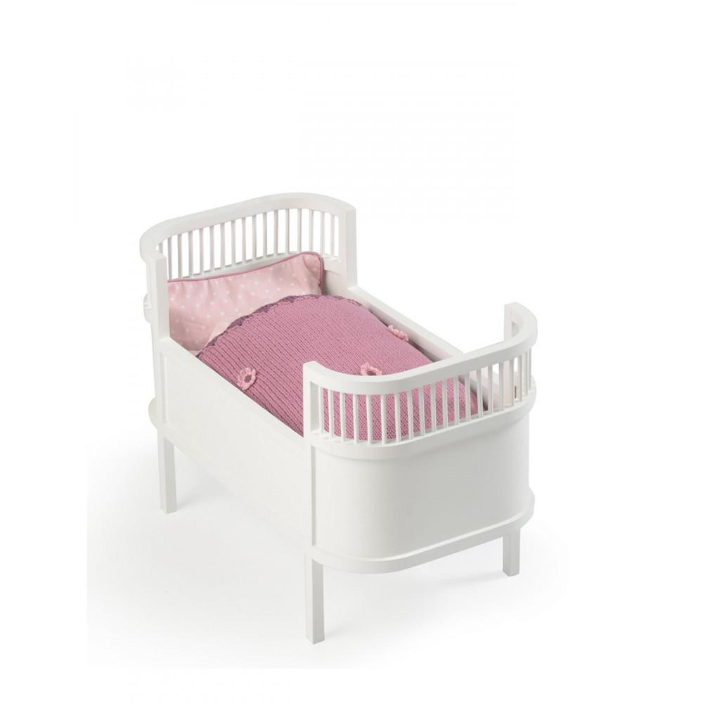 Smallstuff Puppenbett aus Holz, weiß