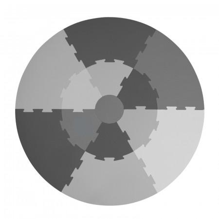 Sebra Spielmatte rund grau