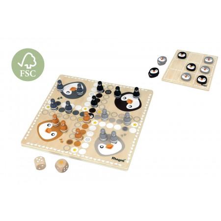 Magni 2in1 Brettspiel Pinguin aus Holz