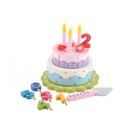 Magni Geburtstagskuchen aus Holz mit Musik und Zahlen 1-6