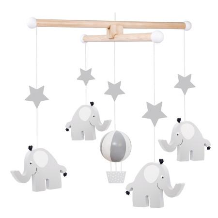JaBaDaBaDo Holz Mobile Elefant