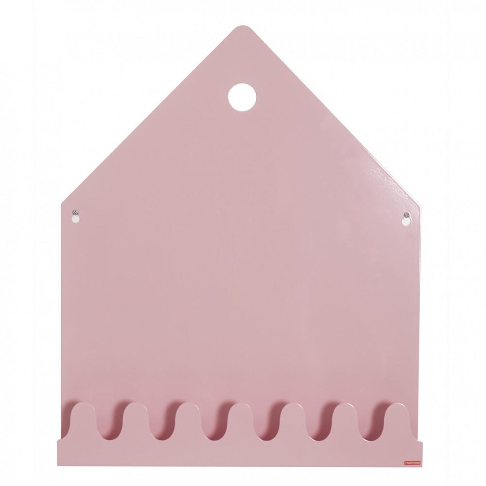Roommate Kindergarderobe mit Magnettafel pastell rosa