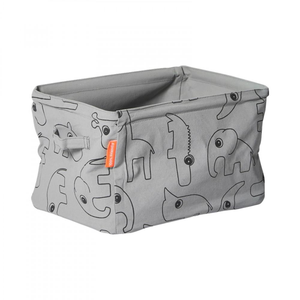 Done by Deer Aufbewahrungsbox aus Stoff, grau
