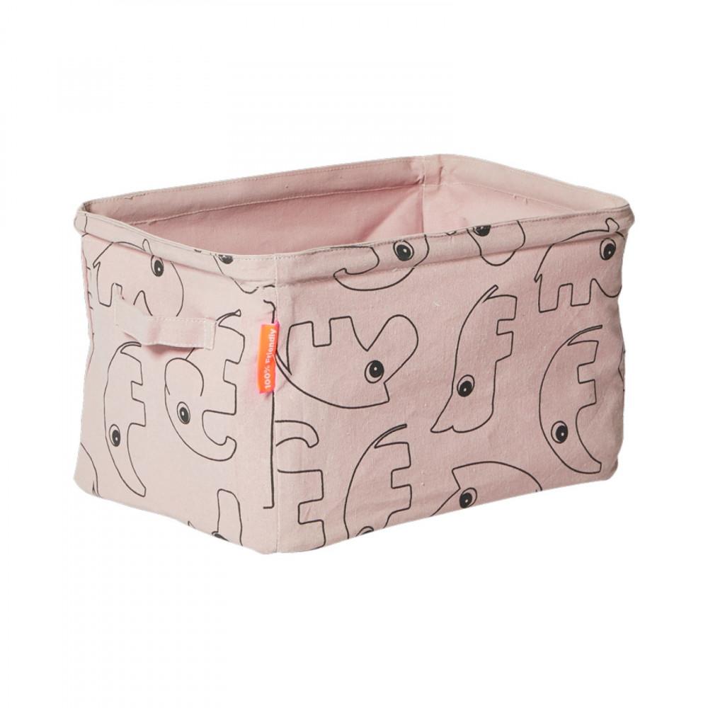 Done by Deer Aufbewahrungsbox aus Stoff, rosa