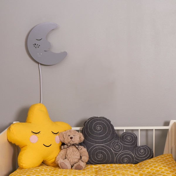 roommate kinderzimmerlampe mond grau. Black Bedroom Furniture Sets. Home Design Ideas