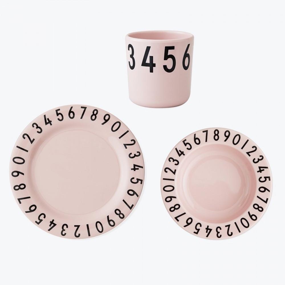 Design Letters Geschirrset Rosa