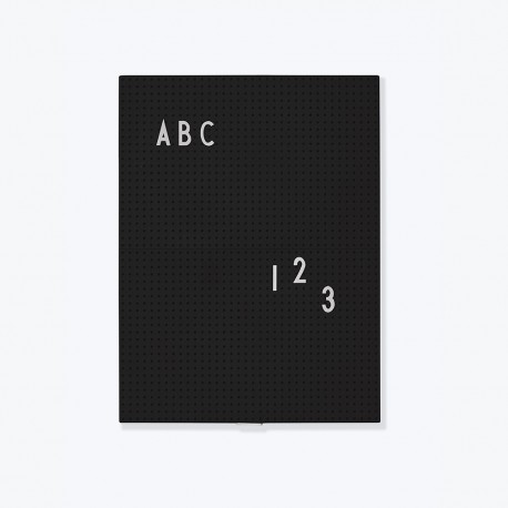 Design Letters Message Board A4, schwarz