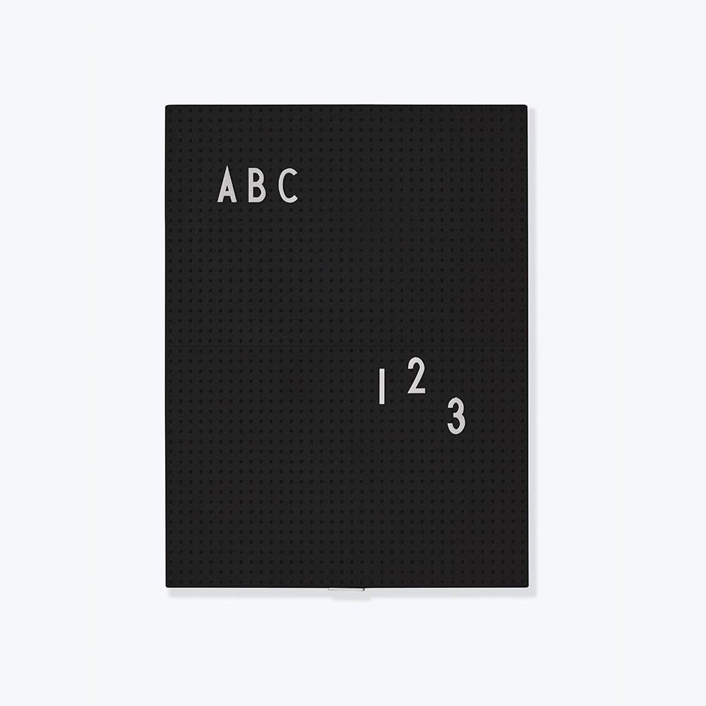 Design Letters Message Board A4, schwarz