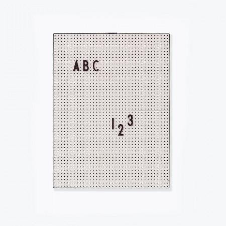Design Letters Message Board A4, grau