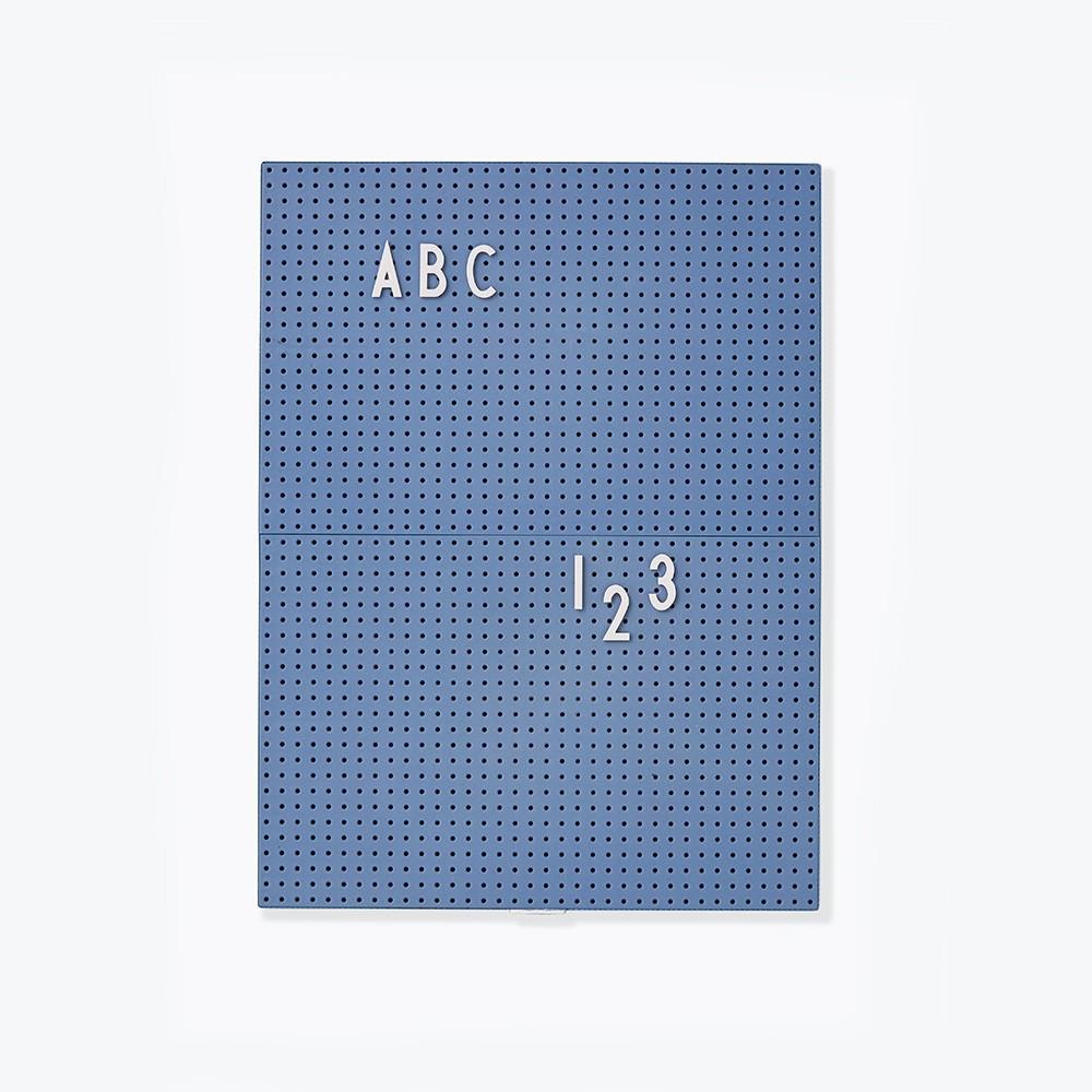 Design Letters Message Board A4, blau