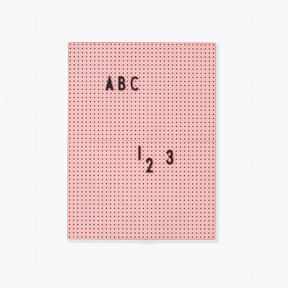 Design Letters Message Board A4, rosa
