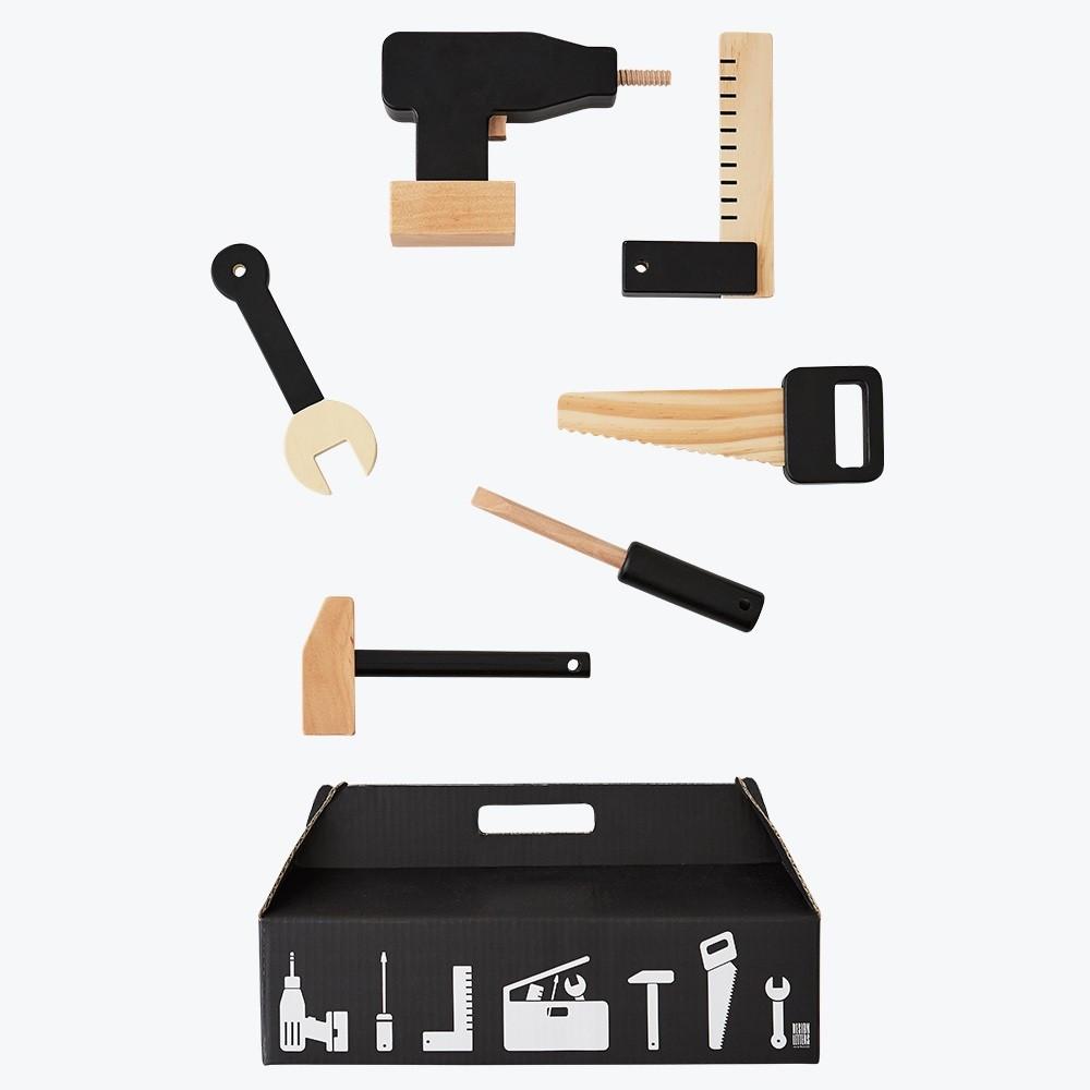 Design Letters Werkzeug-Set aus Holz