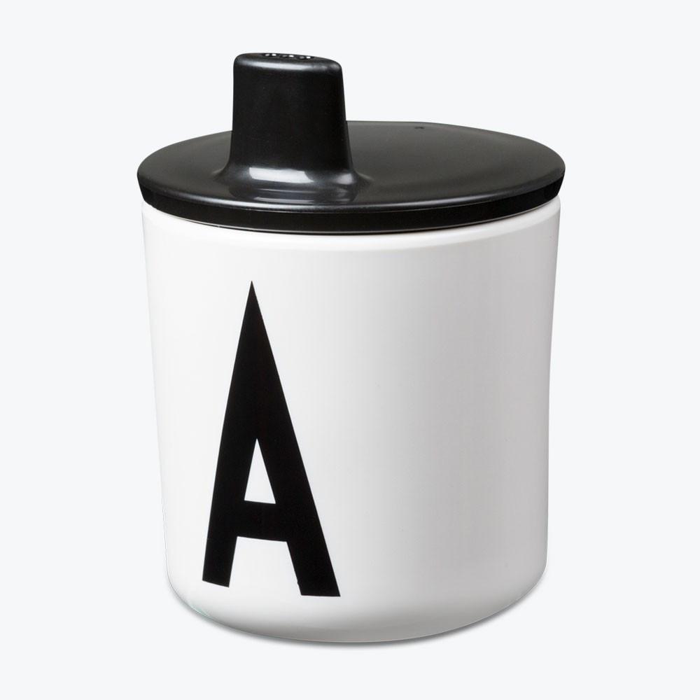 Design Letters Trinklernaufsatz für Melaminbecher Schwarz
