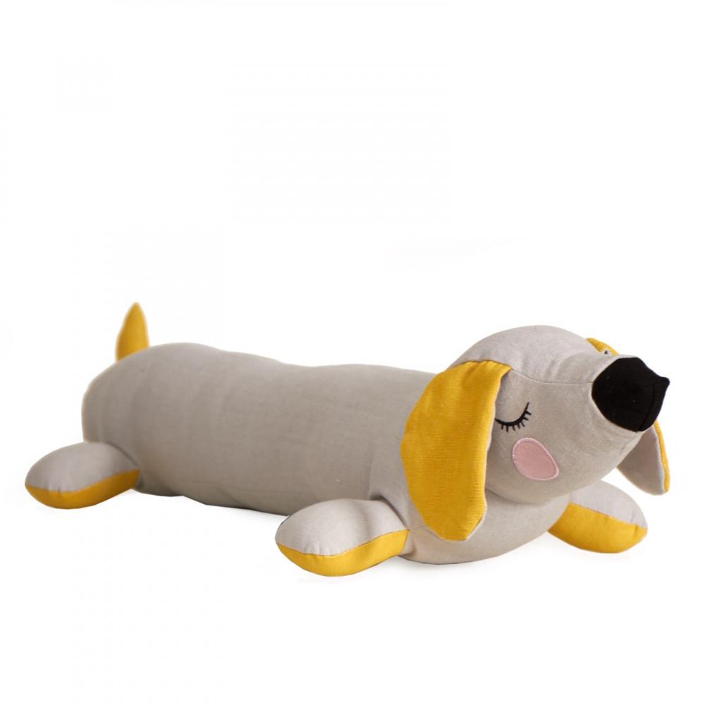 Roommate Kissen Lazy Puppy Grau