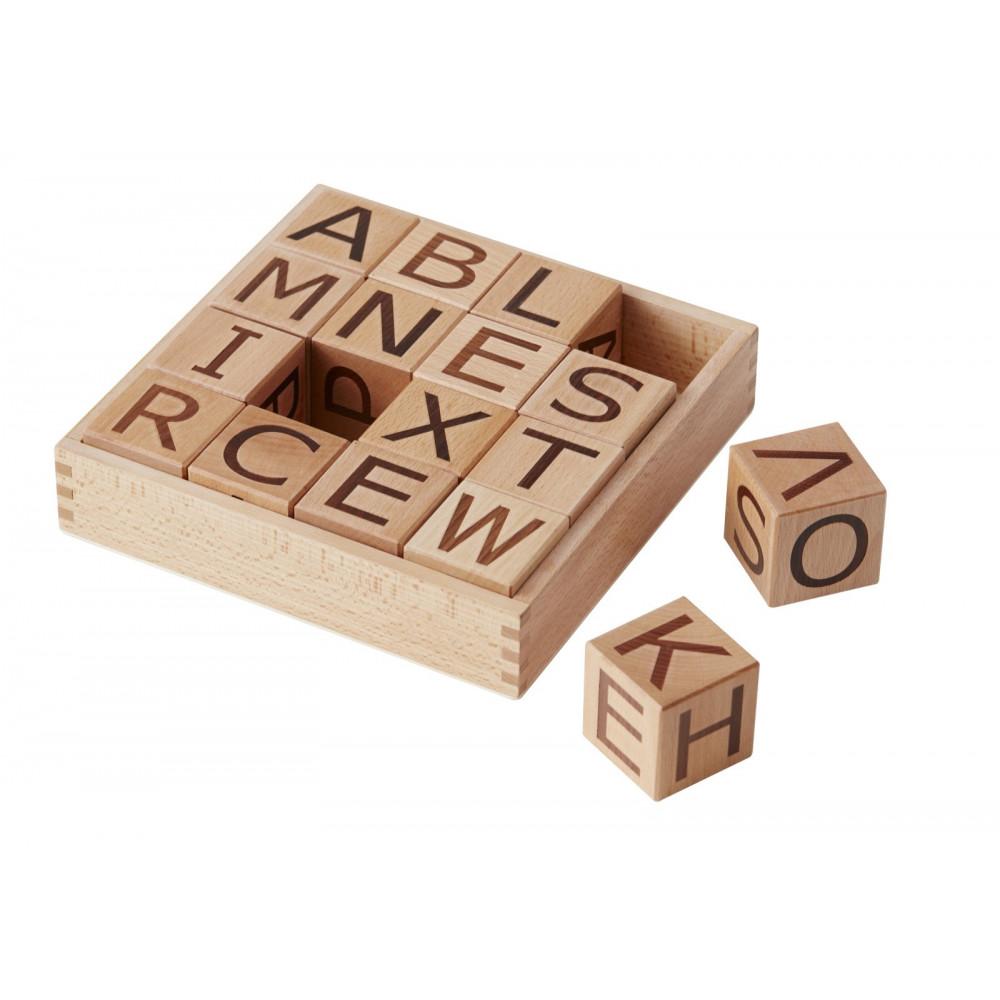 Kids Concept Buchstaben-Holzbausteine Neo natural