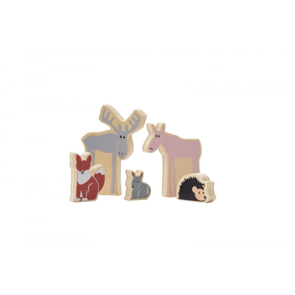 Kids Concept Waldtiere aus Holz, Edvin