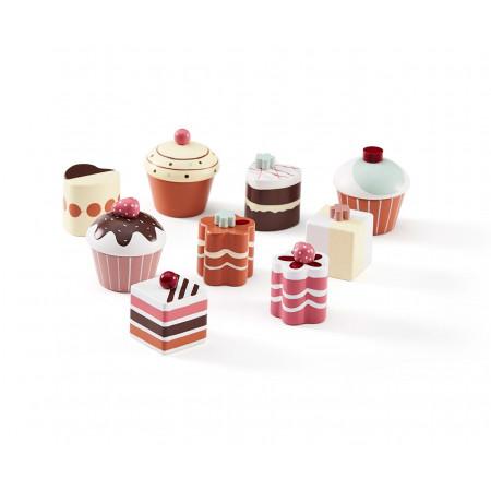 Kids Concept Cupcake & Pralinen 9er Set aus Holz