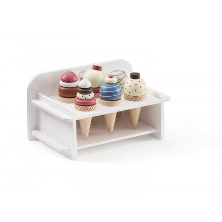 Kids Concept Eiscremehalter mit 6 Eis aus Holz