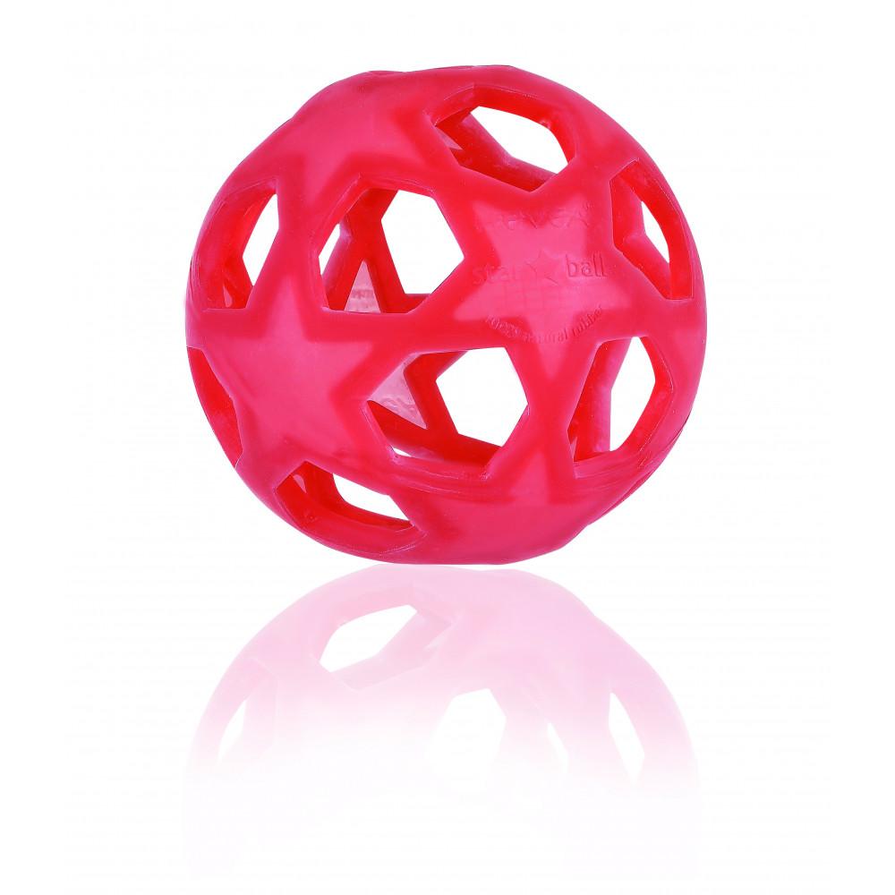 Hevea Star Ball aus Naturkautschuk, rot