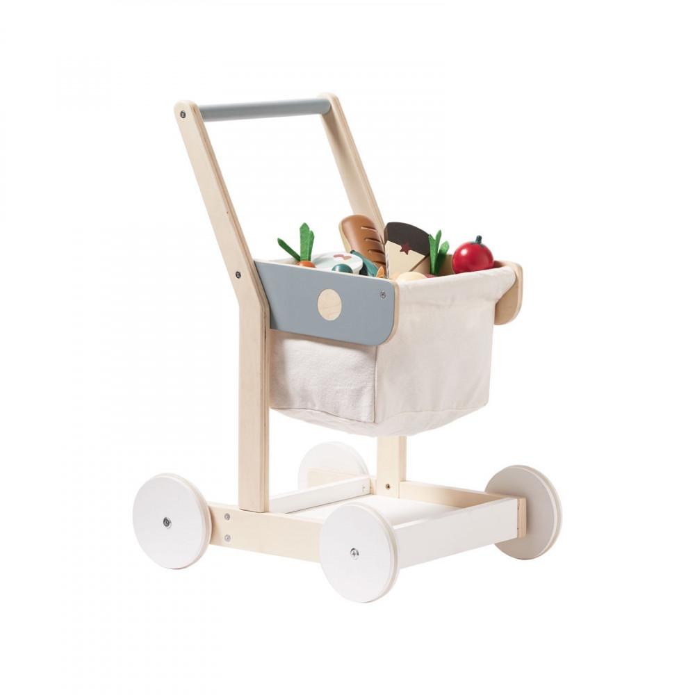 Kids Concept Einkaufswagen aus Holz