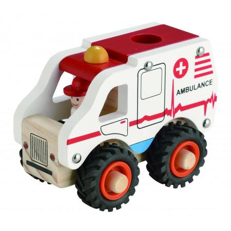 Magni Krankenwagen aus Holz
