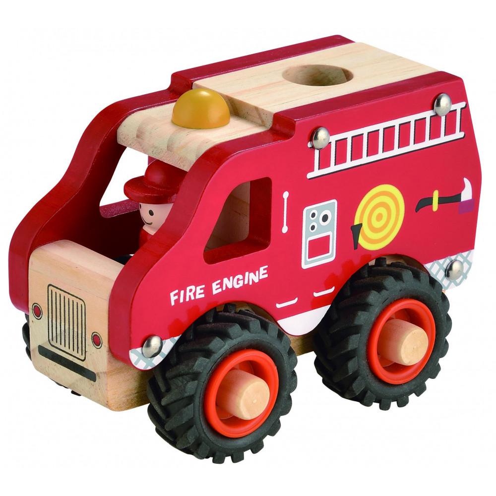 Magni Feuerwehrauto aus Holz