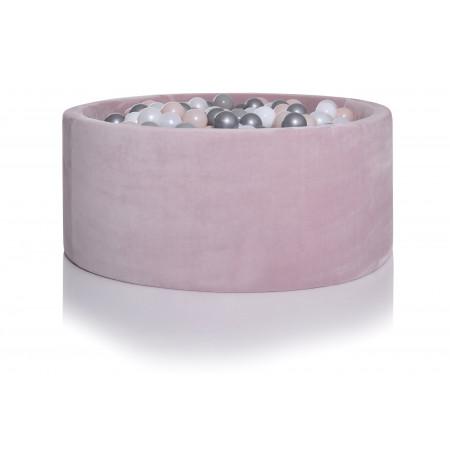 KIDKII Bällebad 100x40 Samt, pink