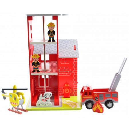 Magni Feuerwehrstation mit Zubehör aus Holz