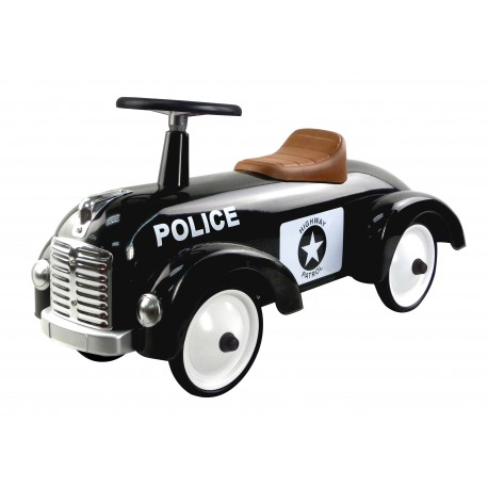 Magni Retro Rutschauto Polizei, aus Metall