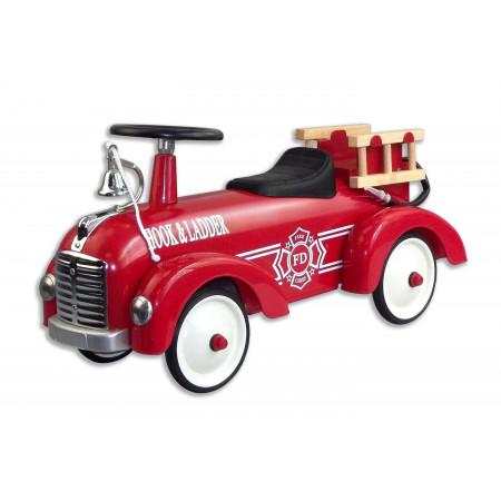 Magni Retro Rutschauto Feuerwehr, aus Metall
