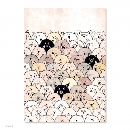 "Withwhite Poster ""All Ears"" DIN A4"