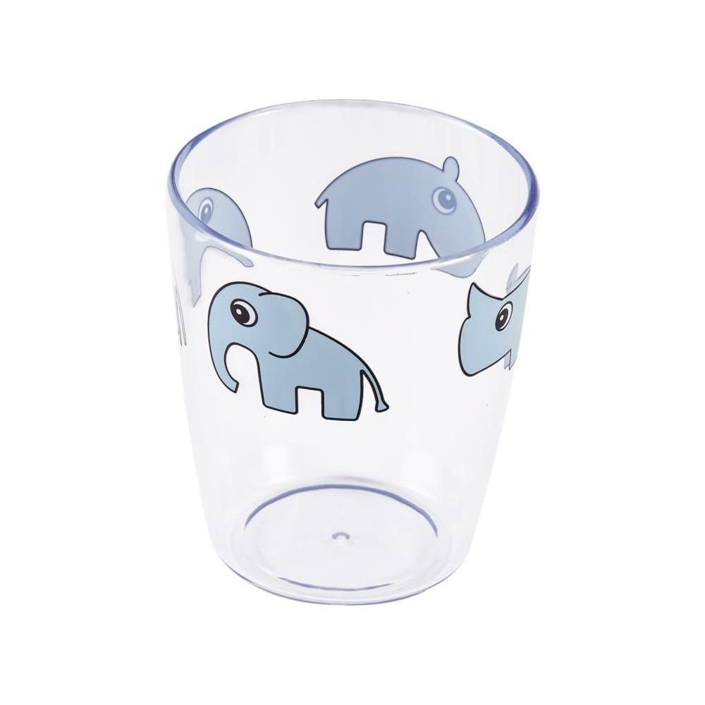Done by Deer Kinder Glas Yummy Mini, Deer friends, blau