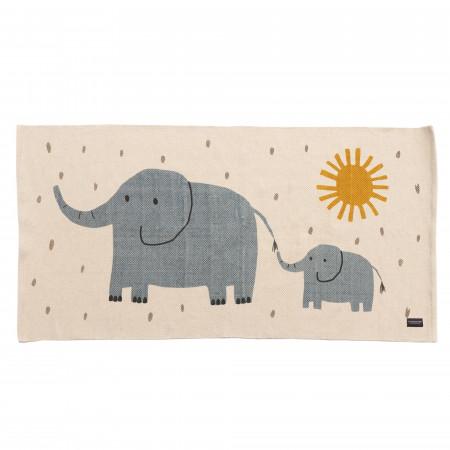 Roommate Teppich Elefant 140 x 70 cm, Baumwolle