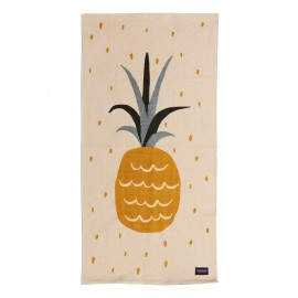 Roommate Teppich Ananas 140 x 70 cm, Baumwolle