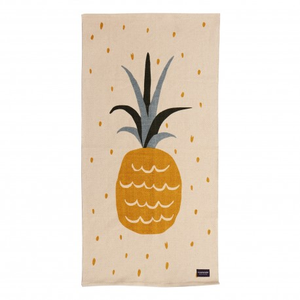 Roommate Teppich Ananas 140 x 70 cm, Baumwolle