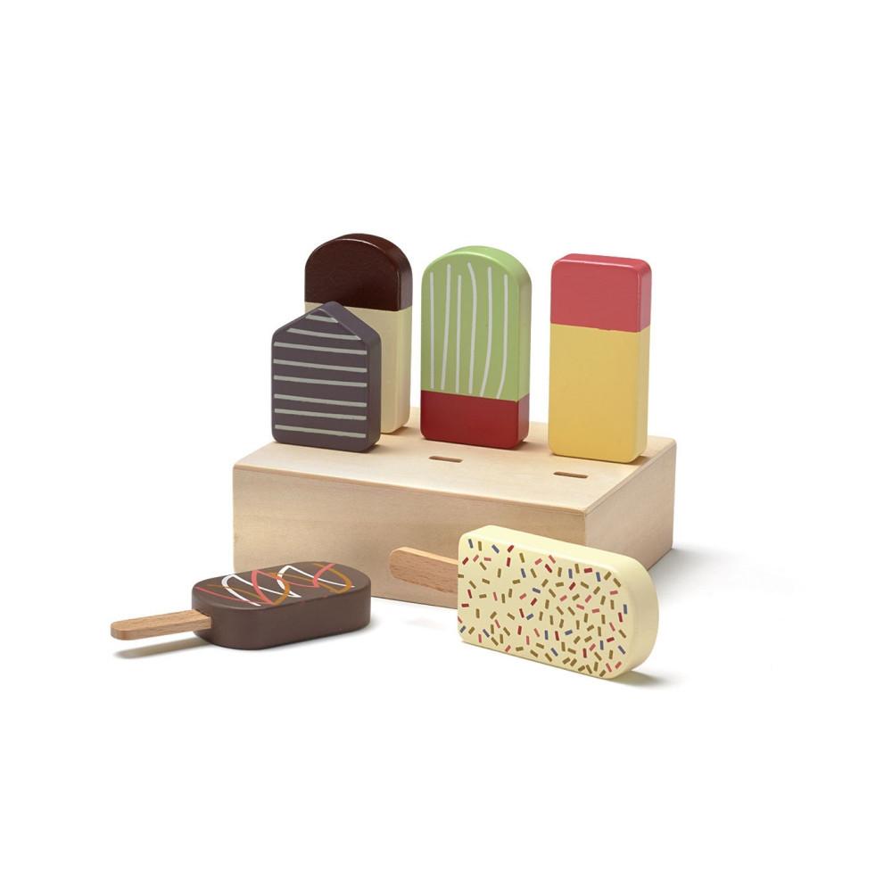 Kids Concept Eis am Stil mit 6 Eis aus Holz
