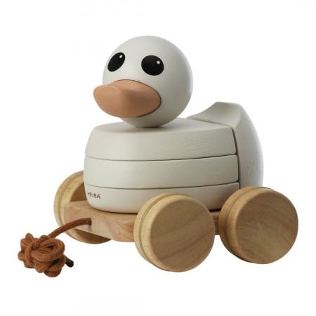 Hevea Nachziehtier und Stapelspielzeug KAWAN aus Holz