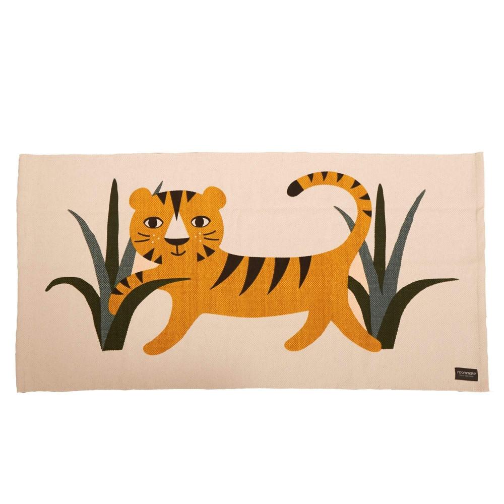 Roommate Teppich Tiger 140 x 70 cm, Baumwolle