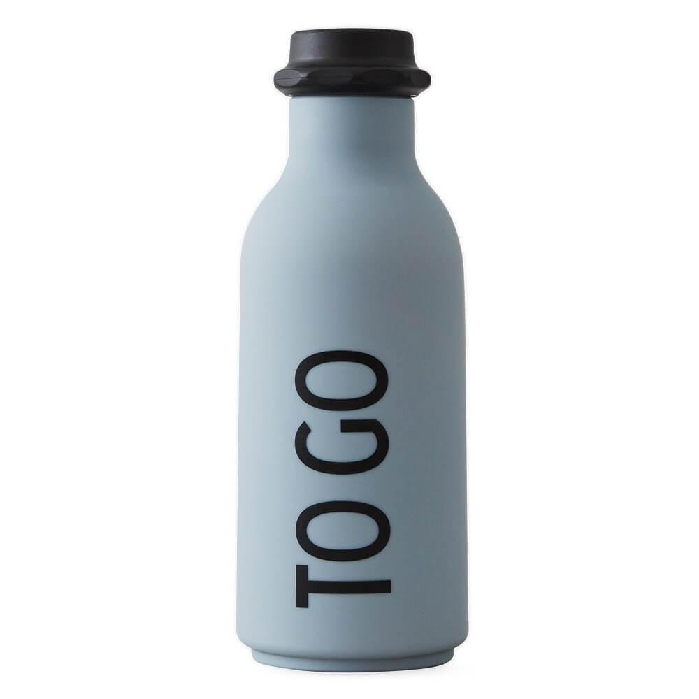 """Design Letters Wasserflasche """"To go"""" Grau"""