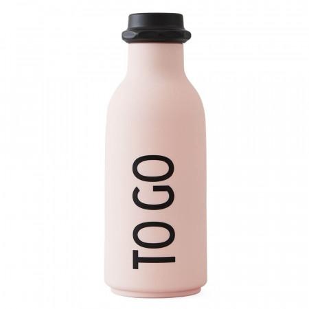 "Design Letters Wasserflasche ""To go"" Pink"