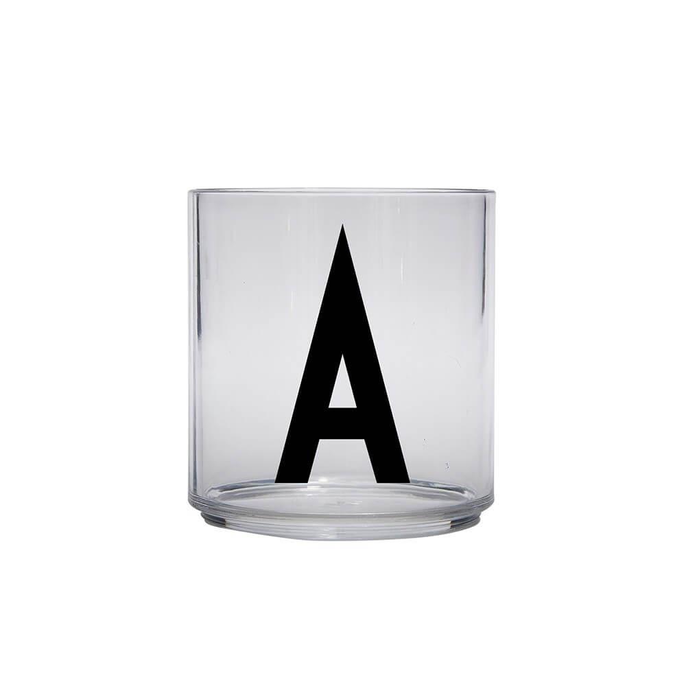 Design Letters Glas mit Buchstaben