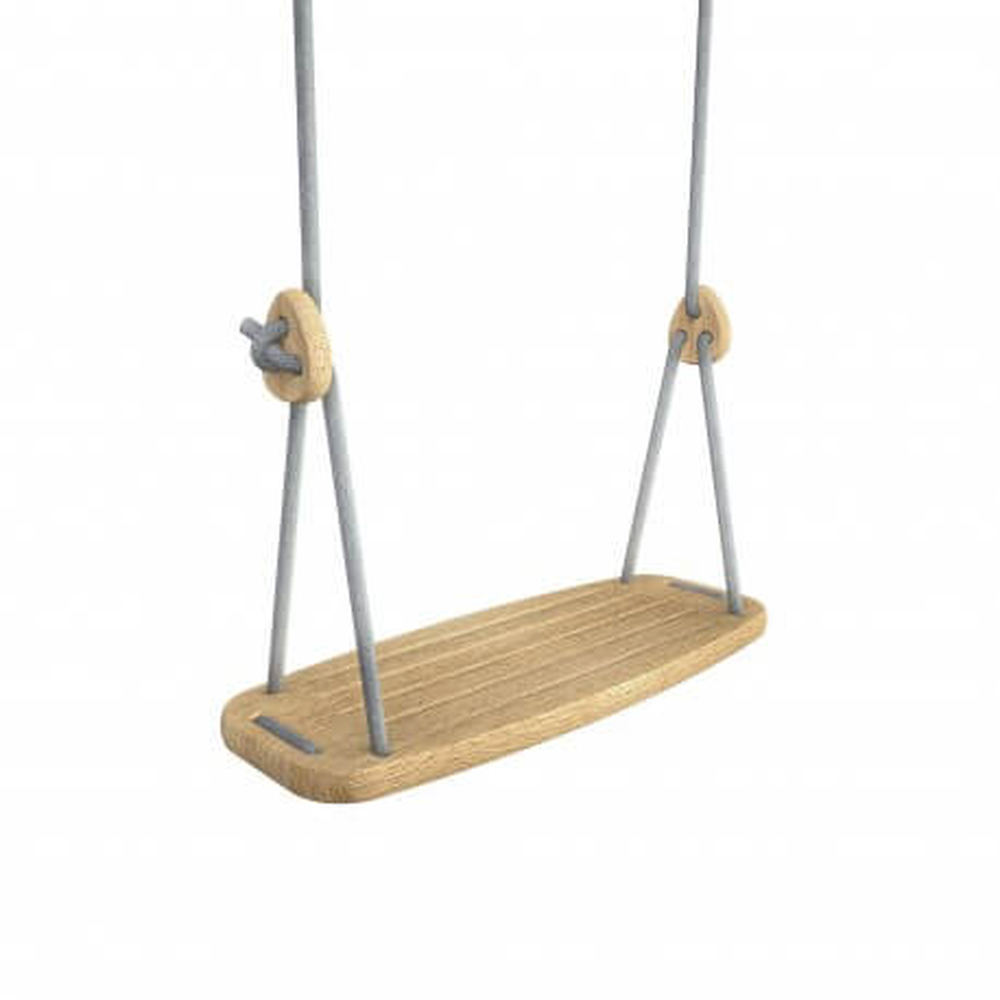 Lillagunga Kinderschaukel Eiche - graue Seile