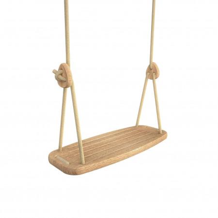 Lillagunga Kinderschaukel Eiche - Seile Beige