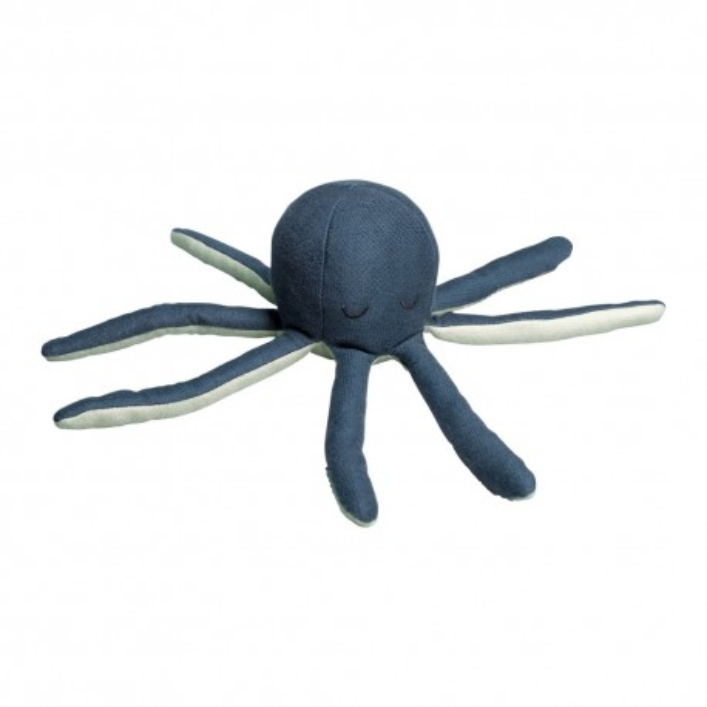Fabelab Rassel Octopus in blau