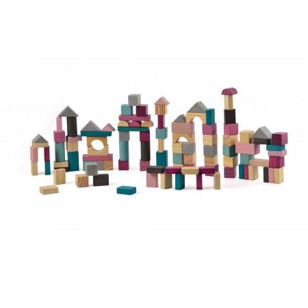 Magni Holzbausteine 100 Stück in Sortierbox