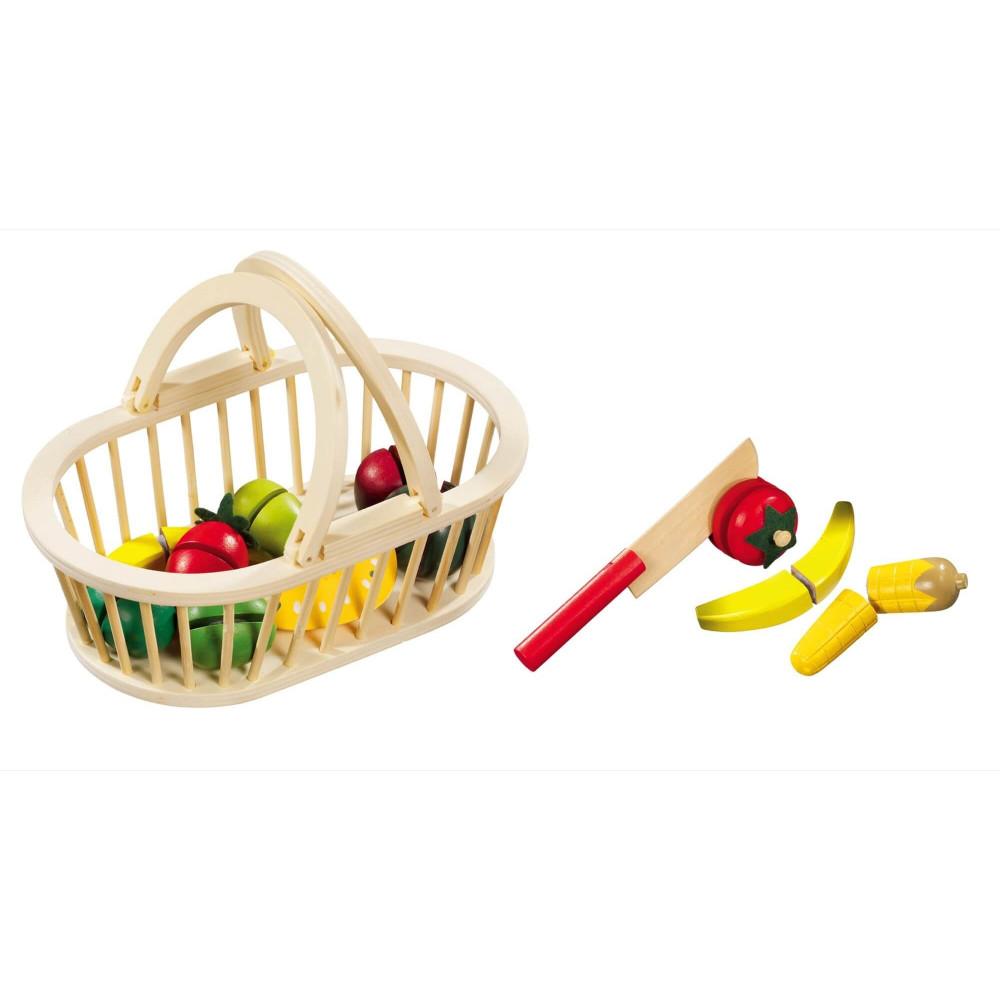 Magni Obstkorb mit 11 Früchten aus Holz