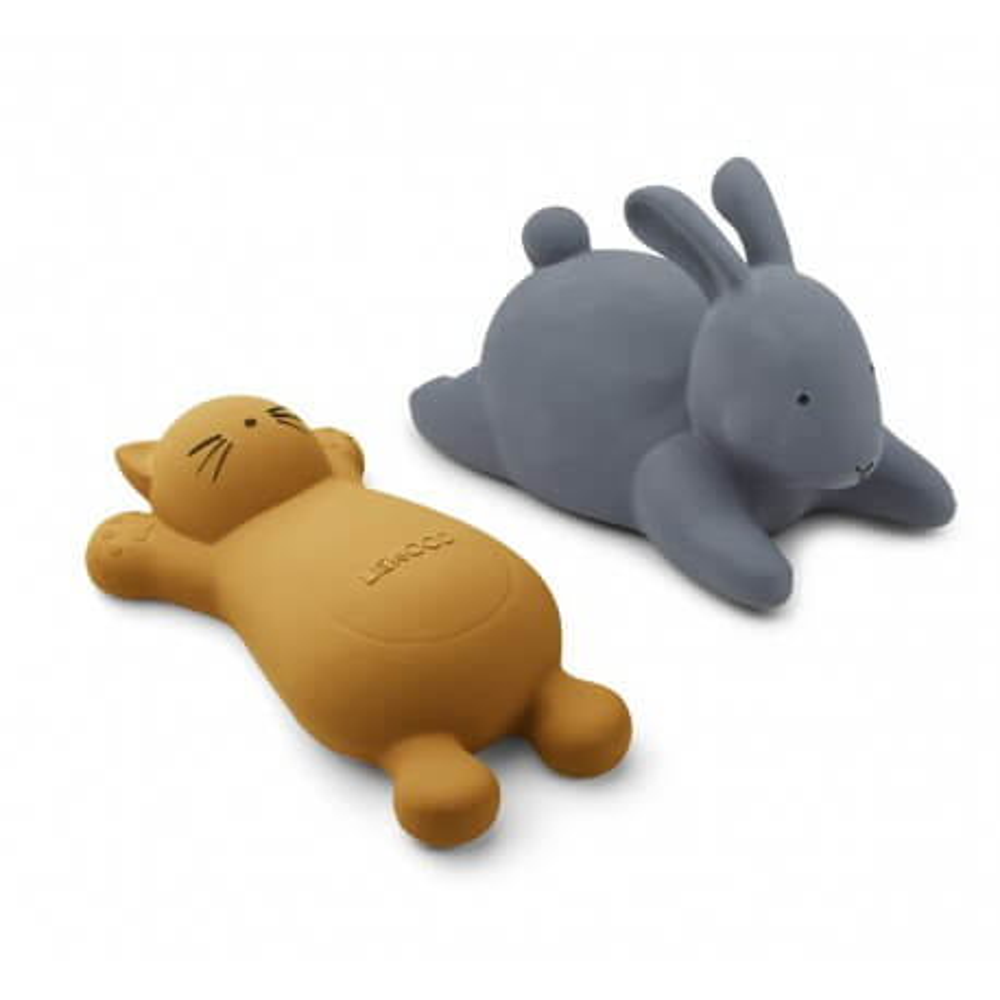 Liewood Badespielzeug Vikky Katze und Hase blau/gelb